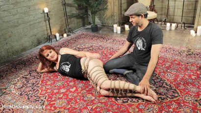 Photo number 16 from Shibari 201 - Futomomo Leg Binding and Leg Lacing shot for Kink University on Kink.com. Featuring Kanso and True Blue in hardcore BDSM & Fetish porn.