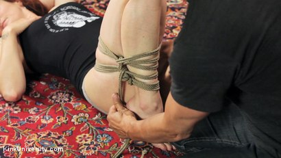 Photo number 6 from Shibari 201 - Futomomo Leg Binding and Leg Lacing shot for Kink University on Kink.com. Featuring Kanso and True Blue in hardcore BDSM & Fetish porn.
