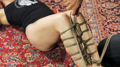 Photo number 8 from Shibari 201 - Futomomo Leg Binding and Leg Lacing shot for Kink University on Kink.com. Featuring Kanso and True Blue in hardcore BDSM & Fetish porn.