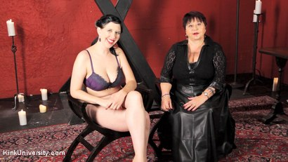 Photo number 1 from Sensual Flogging 101 - with Cleo Dubois shot for Kink University on Kink.com. Featuring Nerine Mechanique and Cleo Dubois in hardcore BDSM & Fetish porn.