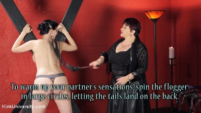 Photo number 14 from Sensual Flogging 101 - with Cleo Dubois shot for Kink University on Kink.com. Featuring Nerine Mechanique and Cleo Dubois in hardcore BDSM & Fetish porn.