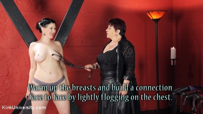 Photo number 16 from Sensual Flogging 101 - with Cleo Dubois shot for Kink University on Kink.com. Featuring Nerine Mechanique and Cleo Dubois in hardcore BDSM & Fetish porn.