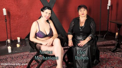 Photo number 23 from Sensual Flogging 101 - with Cleo Dubois shot for Kink University on Kink.com. Featuring Nerine Mechanique and Cleo Dubois in hardcore BDSM & Fetish porn.