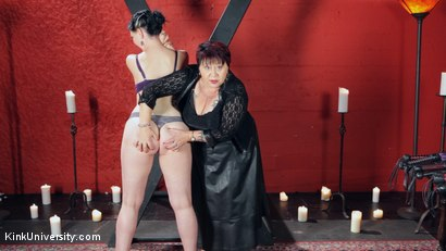 Photo number 30 from Sensual Flogging 101 - with Cleo Dubois shot for Kink University on Kink.com. Featuring Nerine Mechanique and Cleo Dubois in hardcore BDSM & Fetish porn.