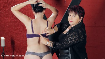 Photo number 31 from Sensual Flogging 101 - with Cleo Dubois shot for Kink University on Kink.com. Featuring Nerine Mechanique and Cleo Dubois in hardcore BDSM & Fetish porn.
