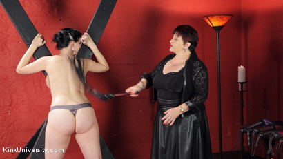 Photo number 33 from Sensual Flogging 101 - with Cleo Dubois shot for Kink University on Kink.com. Featuring Nerine Mechanique and Cleo Dubois in hardcore BDSM & Fetish porn.