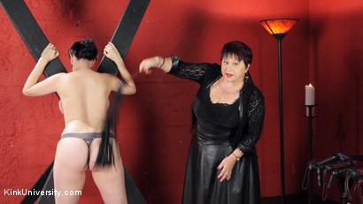 Photo number 34 from Sensual Flogging 101 - with Cleo Dubois shot for Kink University on Kink.com. Featuring Nerine Mechanique and Cleo Dubois in hardcore BDSM & Fetish porn.
