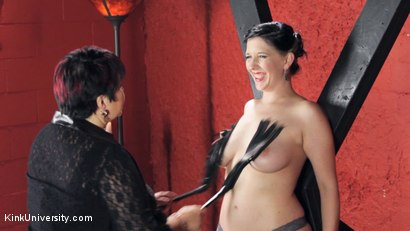 Photo number 35 from Sensual Flogging 101 - with Cleo Dubois shot for Kink University on Kink.com. Featuring Nerine Mechanique and Cleo Dubois in hardcore BDSM & Fetish porn.
