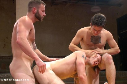 "Photo number 13 from Cam ""The Cannon"" Christou vs Chris ""Mr. Badass"" Bines shot for Naked Kombat on Kink.com. Featuring Chris Bines and Cam Christou in hardcore BDSM & Fetish porn."