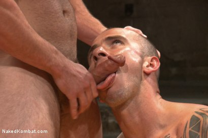 "Photo number 10 from Cam ""The Cannon"" Christou vs Chris ""Mr. Badass"" Bines shot for Naked Kombat on Kink.com. Featuring Chris Bines and Cam Christou in hardcore BDSM & Fetish porn."