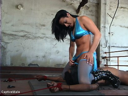 Photo number 16 from Fingered And Fucked: Sandra Romain Trains Secret Agent shot for Captive Male on Kink.com. Featuring Sandra Romain and Secret Agent in hardcore BDSM & Fetish porn.