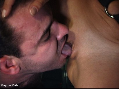 Photo number 4 from Sandra Romain's Captive Cargo Submits to Inspections shot for Captive Male on Kink.com. Featuring Oscar Beyer and Sandra Romain in hardcore BDSM & Fetish porn.