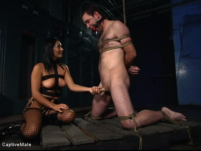 Photo number 7 from Sandra Romain's Captive Cargo Submits to Inspections shot for Captive Male on Kink.com. Featuring Oscar Beyer and Sandra Romain in hardcore BDSM & Fetish porn.
