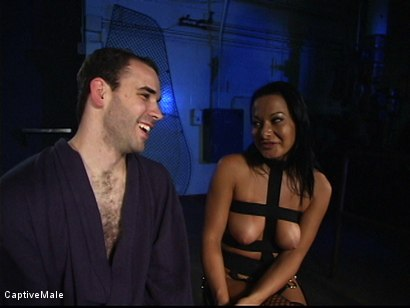 Photo number 16 from Sandra Romain's Captive Cargo Submits to Inspections shot for Captive Male on Kink.com. Featuring Oscar Beyer and Sandra Romain in hardcore BDSM & Fetish porn.
