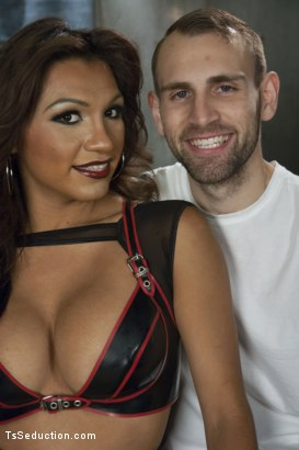 Photo number 15 from Mistress Jessy Dubai if you please....and YOU WILL shot for TS Seduction on Kink.com. Featuring Jessy Dubai  and Blake in hardcore BDSM & Fetish porn.