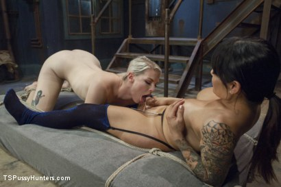 Photo number 10 from Foxxy Takes Another - Turning Ella Nova into her cock Slut shot for TS Pussy Hunters on Kink.com. Featuring TS Foxxy and Ella Nova in hardcore BDSM & Fetish porn.