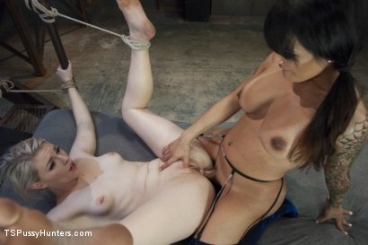 Photo number 11 from Foxxy Takes Another - Turning Ella Nova into her cock Slut shot for TS Pussy Hunters on Kink.com. Featuring TS Foxxy and Ella Nova in hardcore BDSM & Fetish porn.