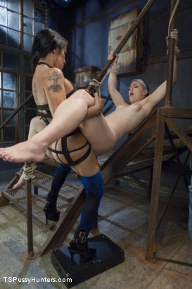 Photo number 5 from Foxxy Takes Another - Turning Ella Nova into her cock Slut shot for TS Pussy Hunters on Kink.com. Featuring TS Foxxy and Ella Nova in hardcore BDSM & Fetish porn.