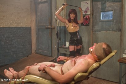 Photo number 2 from FemDom Sperm Thief shot for Divine Bitches on Kink.com. Featuring Maitresse Madeline Marlowe  and Jonah Marx in hardcore BDSM & Fetish porn.