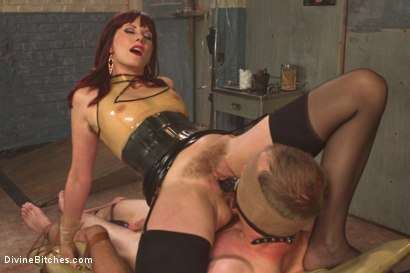 Photo number 4 from FemDom Sperm Thief shot for Divine Bitches on Kink.com. Featuring Maitresse Madeline Marlowe  and Jonah Marx in hardcore BDSM & Fetish porn.