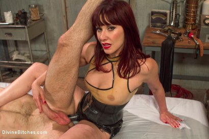Photo number 14 from FemDom Sperm Thief shot for Divine Bitches on Kink.com. Featuring Maitresse Madeline Marlowe  and Jonah Marx in hardcore BDSM & Fetish porn.