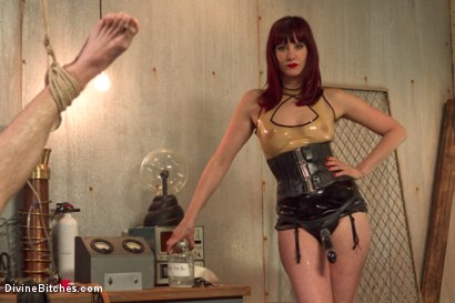 Photo number 15 from FemDom Sperm Thief shot for Divine Bitches on Kink.com. Featuring Maitresse Madeline Marlowe  and Jonah Marx in hardcore BDSM & Fetish porn.