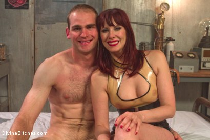 Photo number 5 from FemDom Sperm Thief shot for Divine Bitches on Kink.com. Featuring Maitresse Madeline Marlowe  and Jonah Marx in hardcore BDSM & Fetish porn.