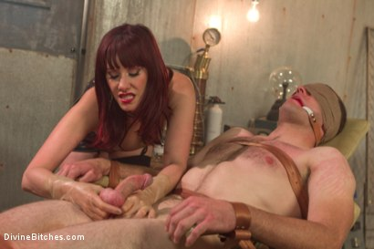 Photo number 13 from FemDom Sperm Thief shot for Divine Bitches on Kink.com. Featuring Maitresse Madeline Marlowe  and Jonah Marx in hardcore BDSM & Fetish porn.