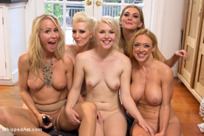 Photo number 8 from Girls Weekend! A Lesbian Stepmother and Daughter Feature Presentation: Part 2 shot for Whipped Ass on Kink.com. Featuring Cherry Torn, Mona Wales, Dee Williams, Ella Nova  and Simone Sonay in hardcore BDSM & Fetish porn.