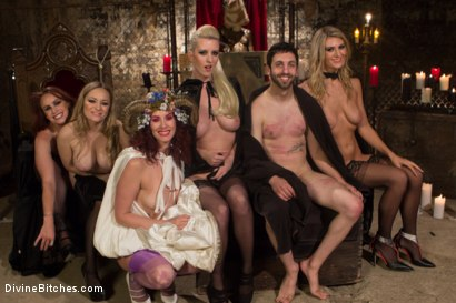 Photo number 5 from The Secret Femdom Society: Territorial Pissings shot for Divine Bitches on Kink.com. Featuring Bella Rossi, Jay West, Cherry Torn, Amanda Tate, Aiden Starr and Maitresse Madeline Marlowe in hardcore BDSM & Fetish porn.