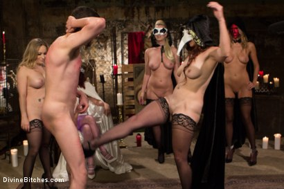 Photo number 8 from The Secret Femdom Society: Territorial Pissings shot for Divine Bitches on Kink.com. Featuring Bella Rossi, Jay West, Cherry Torn, Amanda Tate, Aiden Starr and Maitresse Madeline Marlowe in hardcore BDSM & Fetish porn.
