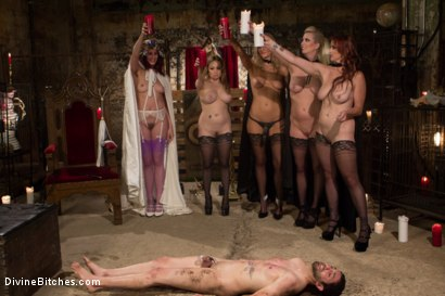 Photo number 9 from The Secret Femdom Society: Territorial Pissings shot for Divine Bitches on Kink.com. Featuring Bella Rossi, Jay West, Cherry Torn, Amanda Tate, Aiden Starr and Maitresse Madeline Marlowe in hardcore BDSM & Fetish porn.