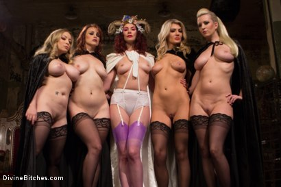 Photo number 1 from The Secret Femdom Society: Territorial Pissings shot for Divine Bitches on Kink.com. Featuring Bella Rossi, Jay West, Cherry Torn, Amanda Tate, Aiden Starr and Maitresse Madeline Marlowe in hardcore BDSM & Fetish porn.