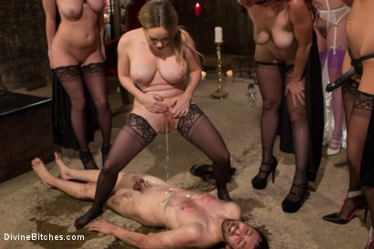 Photo number 6 from The Secret Femdom Society: Territorial Pissings shot for Divine Bitches on Kink.com. Featuring Bella Rossi, Jay Wimp, Cherry Torn, Amanda Tate, Aiden Starr and Maitresse Madeline Marlowe in hardcore BDSM & Fetish porn.