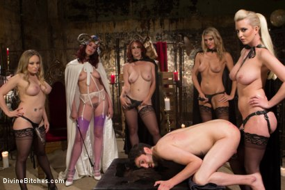 Photo number 12 from The Secret Femdom Society: Territorial Pissings shot for Divine Bitches on Kink.com. Featuring Bella Rossi, Jay Wimp, Cherry Torn, Amanda Tate, Aiden Starr and Maitresse Madeline Marlowe in hardcore BDSM & Fetish porn.