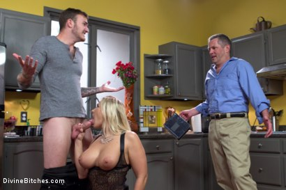 Photo number 6 from Cuckold my husband with his adopted son! shot for Divine Bitches on Kink.com. Featuring Angel Allwood, Christian Wilde and Jimmy Broadway in hardcore BDSM & Fetish porn.