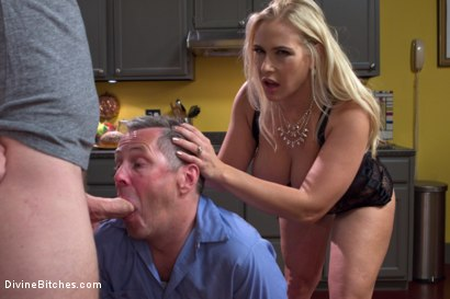 Photo number 10 from Cuckold my husband with his adopted son! shot for Divine Bitches on Kink.com. Featuring Angel Allwood, Christian Wilde and Jimmy Broadway in hardcore BDSM & Fetish porn.