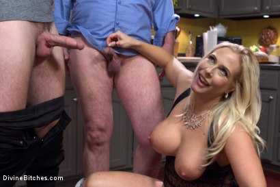 Photo number 11 from Cuckold my husband with his adopted son! shot for Divine Bitches on Kink.com. Featuring Angel Allwood, Christian Wilde and Jimmy Broadway in hardcore BDSM & Fetish porn.
