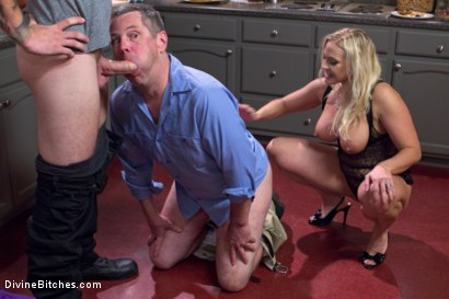 Photo number 15 from Cuckold my husband with his adopted son! shot for Divine Bitches on Kink.com. Featuring Angel Allwood, Christian Wilde and Jimmy Broadway in hardcore BDSM & Fetish porn.