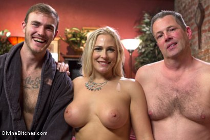 Photo number 21 from Cuckold my husband with his adopted son! shot for Divine Bitches on Kink.com. Featuring Angel Allwood, Christian Wilde and Jimmy Broadway in hardcore BDSM & Fetish porn.