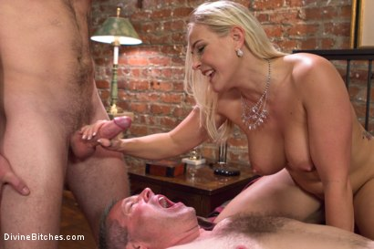 Photo number 23 from Cuckold my husband with his adopted son! shot for Divine Bitches on Kink.com. Featuring Angel Allwood, Christian Wilde and Jimmy Broadway in hardcore BDSM & Fetish porn.