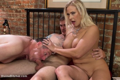 Photo number 29 from Cuckold my husband with his adopted son! shot for Divine Bitches on Kink.com. Featuring Angel Allwood, Christian Wilde and Jimmy Broadway in hardcore BDSM & Fetish porn.