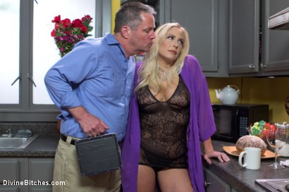 Photo number 3 from Cuckold my husband with his adopted son! shot for Divine Bitches on Kink.com. Featuring Angel Allwood, Christian Wilde and Jimmy Broadway in hardcore BDSM & Fetish porn.
