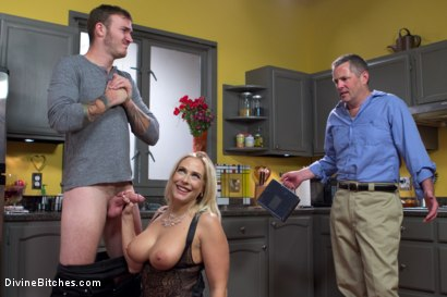 Photo number 7 from Cuckold my husband with his adopted son! shot for Divine Bitches on Kink.com. Featuring Angel Allwood, Christian Wilde and Jimmy Broadway in hardcore BDSM & Fetish porn.