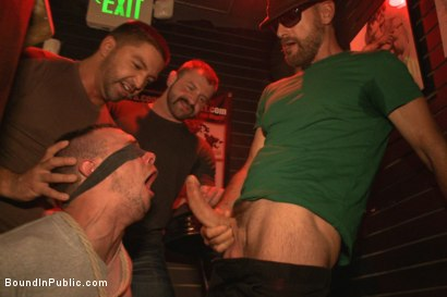 Photo number 2 from Shut up and take our cocks you fucking loser! shot for Bound in Public on Kink.com. Featuring Aleks Buldocek, Kirk Cummings and Dominic Pacifico in hardcore BDSM & Fetish porn.