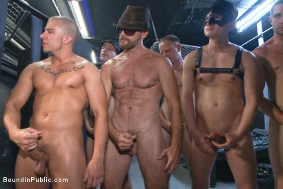 Photo number 11 from Giant cock whored out to the horny public shot for Bound in Public on Kink.com. Featuring Aleks Buldocek, Kirk Cummings and Dominic Pacifico in hardcore BDSM & Fetish porn.