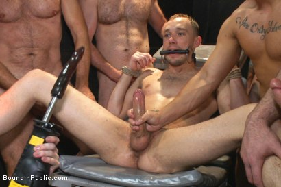 Photo number 5 from Giant cock whored out to the horny public shot for Bound in Public on Kink.com. Featuring Aleks Buldocek, Kirk Cummings and Dominic Pacifico in hardcore BDSM & Fetish porn.