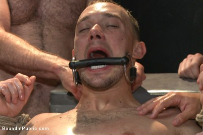 Photo number 6 from Giant cock whored out to the horny public shot for Bound in Public on Kink.com. Featuring Aleks Buldocek, Kirk Cummings and Dominic Pacifico in hardcore BDSM & Fetish porn.