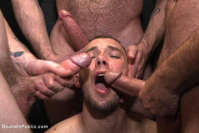 Photo number 14 from Giant cock whored out to the horny public shot for Bound in Public on Kink.com. Featuring Aleks Buldocek, Kirk Cummings and Dominic Pacifico in hardcore BDSM & Fetish porn.