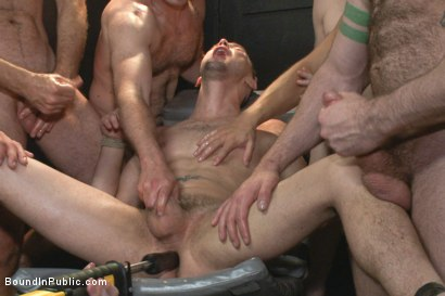 Photo number 7 from Giant cock whored out to the horny public shot for Bound in Public on Kink.com. Featuring Aleks Buldocek, Kirk Cummings and Dominic Pacifico in hardcore BDSM & Fetish porn.